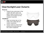 clear sunlight laser outserts