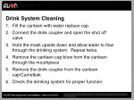 drink system cleaning