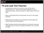 fit and leak test theories