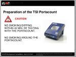 preparation of the tsi portacount