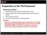 preparation of the tsi portacount1