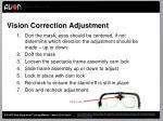 vision correction adjustment