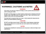 warnings cautions and notes