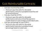 cost reimbursable contracts