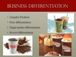 business differentiation