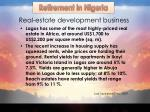 real estate development business