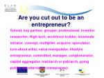 are you cut out to be an entrepreneur