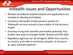 mhealth issues and opportunities