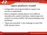 open platform model
