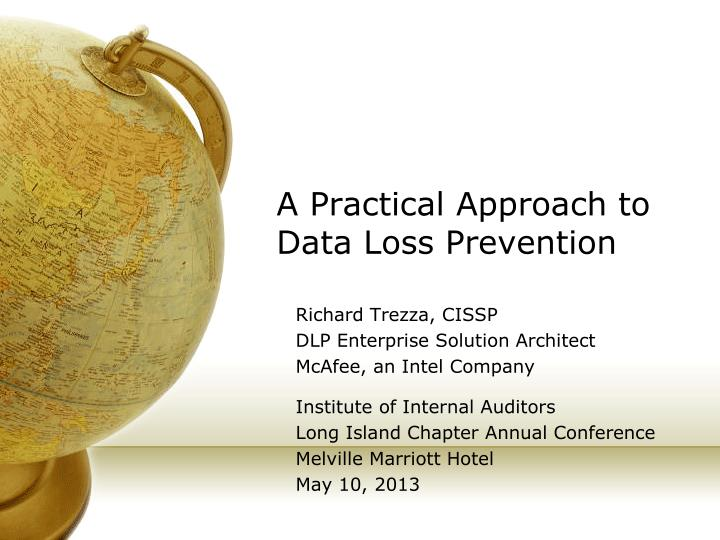 a practical approach to data loss prevention n.