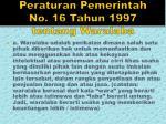 peraturan pemerintah no 16 tahun 1997 tentang waralaba