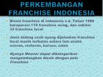 perkembangan franchise indonesia