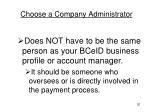 choose a company administrator