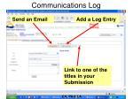 communications log