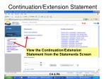 continuation extension statement2