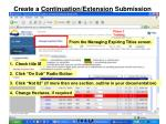 create a continuation extension submission