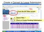 create a convert to lease submission