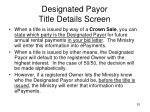 designated payor title details screen1