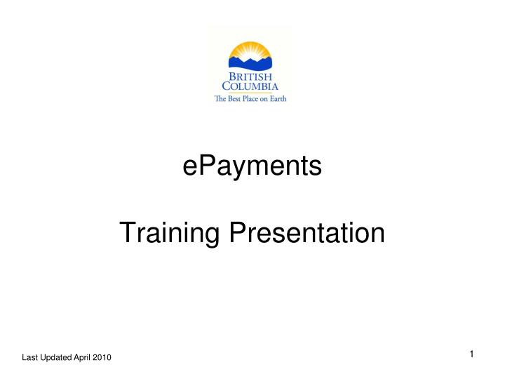 epayments training presentation n.