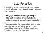 late penalties