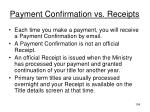 payment confirmation vs receipts