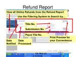 refund report