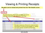 viewing printing receipts