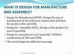 what is design for manufacture and assembly