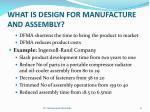 what is design for manufacture and assembly3