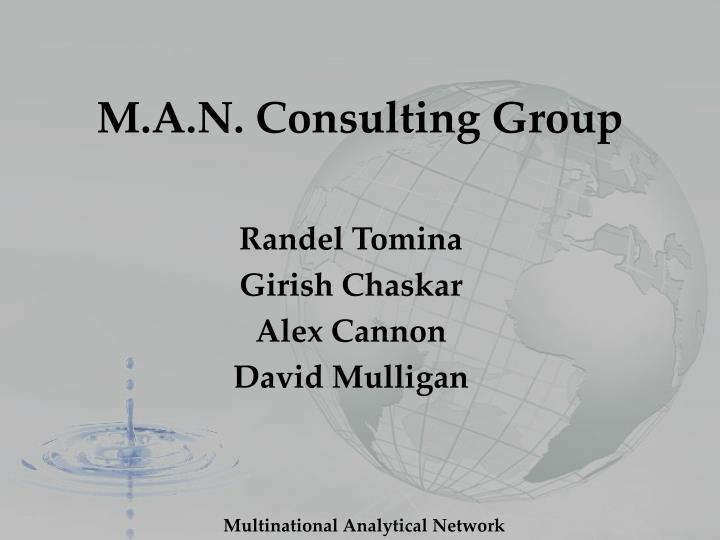 m a n consulting group n.
