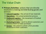 the value chain1