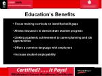 education s benefits