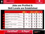 jobs are profiled skill levels are established