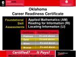 oklahoma career readiness certificate1