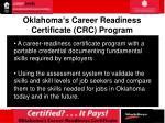 oklahoma s career readiness certificate crc program