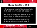 shared benefits of crc