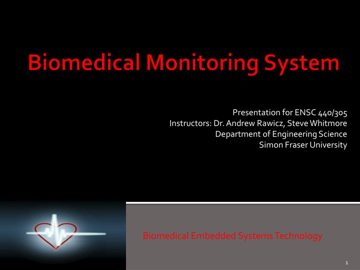 biomedical embedded systems technology n.