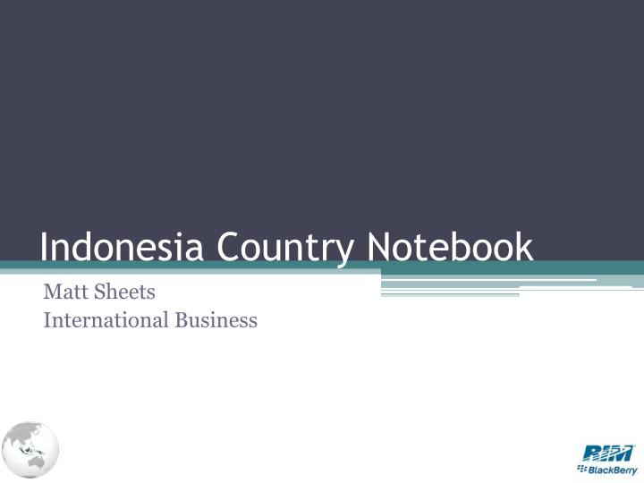 indonesia country notebook n.