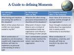 a guide to defining moments