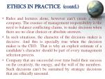 ethics in practice contd
