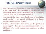 the good puppy theory