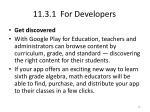 11 3 1 for developers