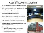 cost effectiveness actions