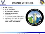 enhanced use leases