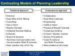 contrasting models of planning leadership