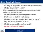 other academic issues