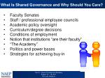 what is shared governance and why should you care