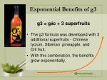 exponential benefits of g3
