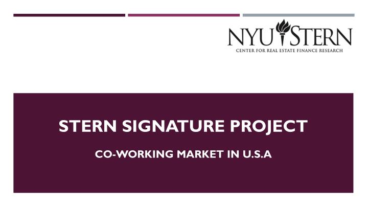 stern signature project n.