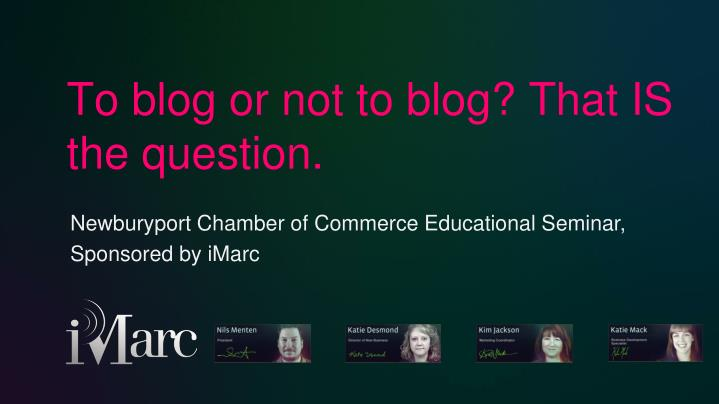 to blog or not to blog that is the question n.